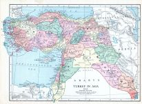 Arabia, Turkey in Asia, World Atlas 1913